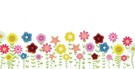 Spring Clip Art. Spring Flowers Background .