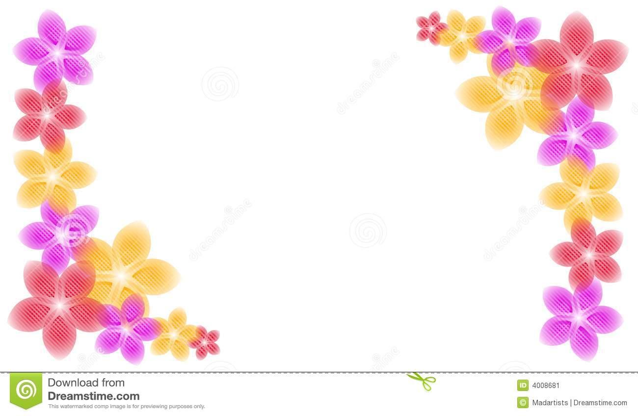 Spring Flower Border Clip Art