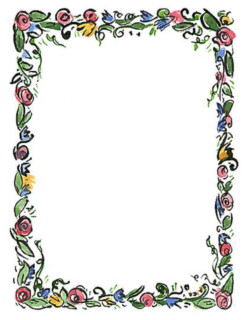 Spring Flower Border Clipart Clipart Panda Free Clipart Images