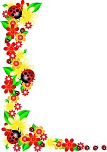 Spring Flower Border Clipart ... spring flower border% .