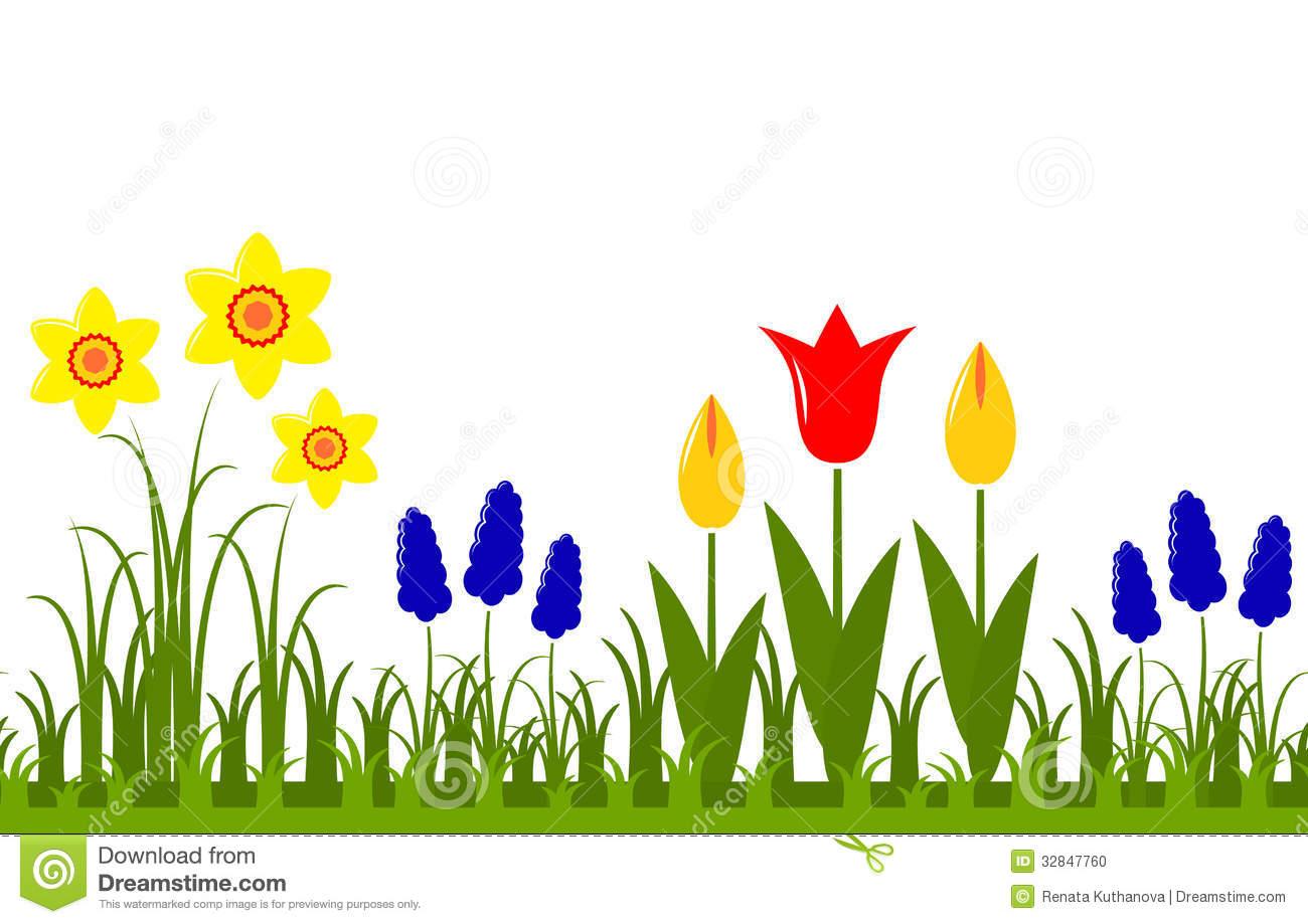 Spring Flower Border Clipart Spring Flowers