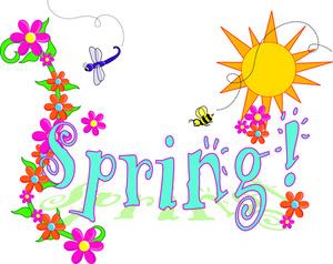 Spring Flowers Border Clipart