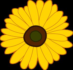 Spring Sunflower Clipart