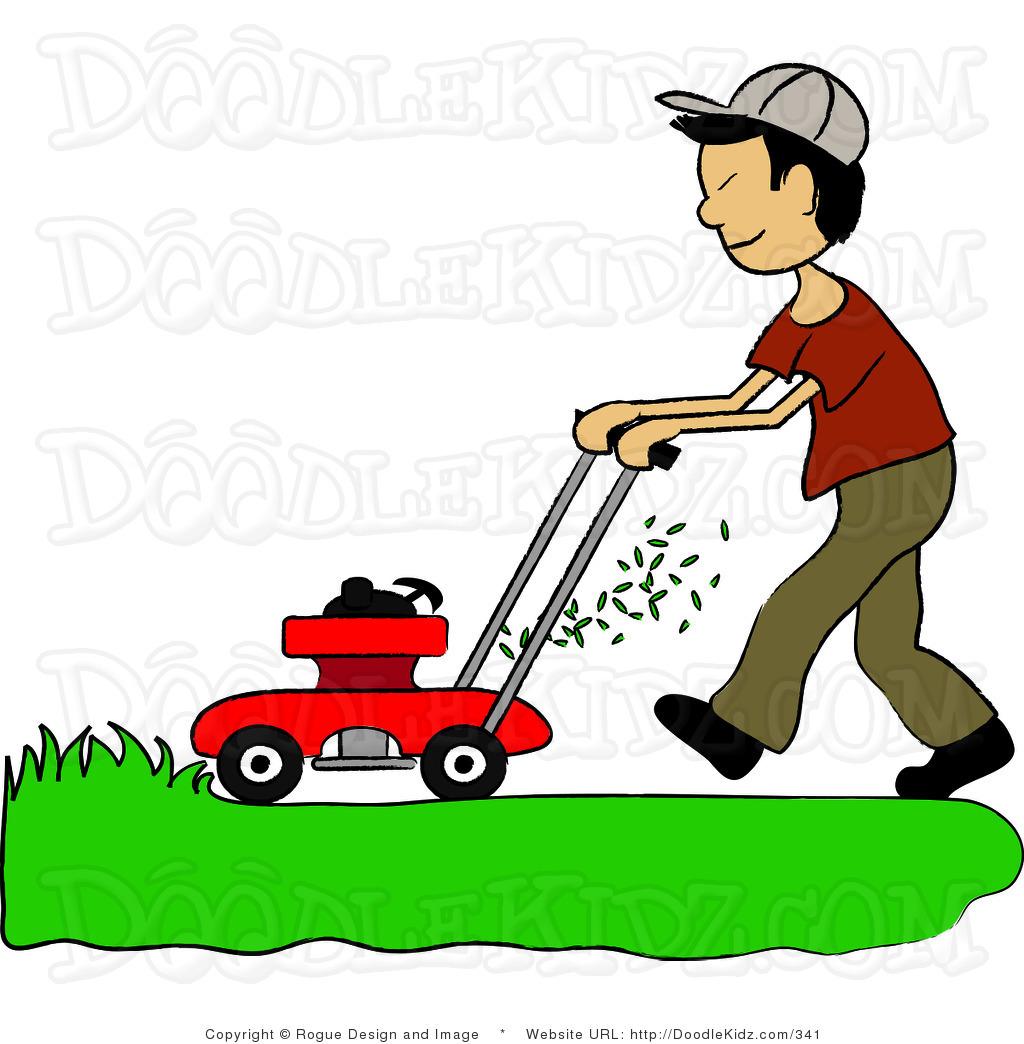 Spring Yard Work Clipart #1