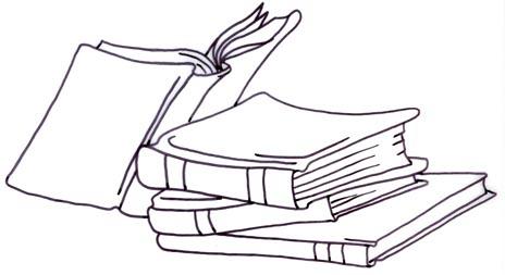 Stack of books catalog books clipart kid
