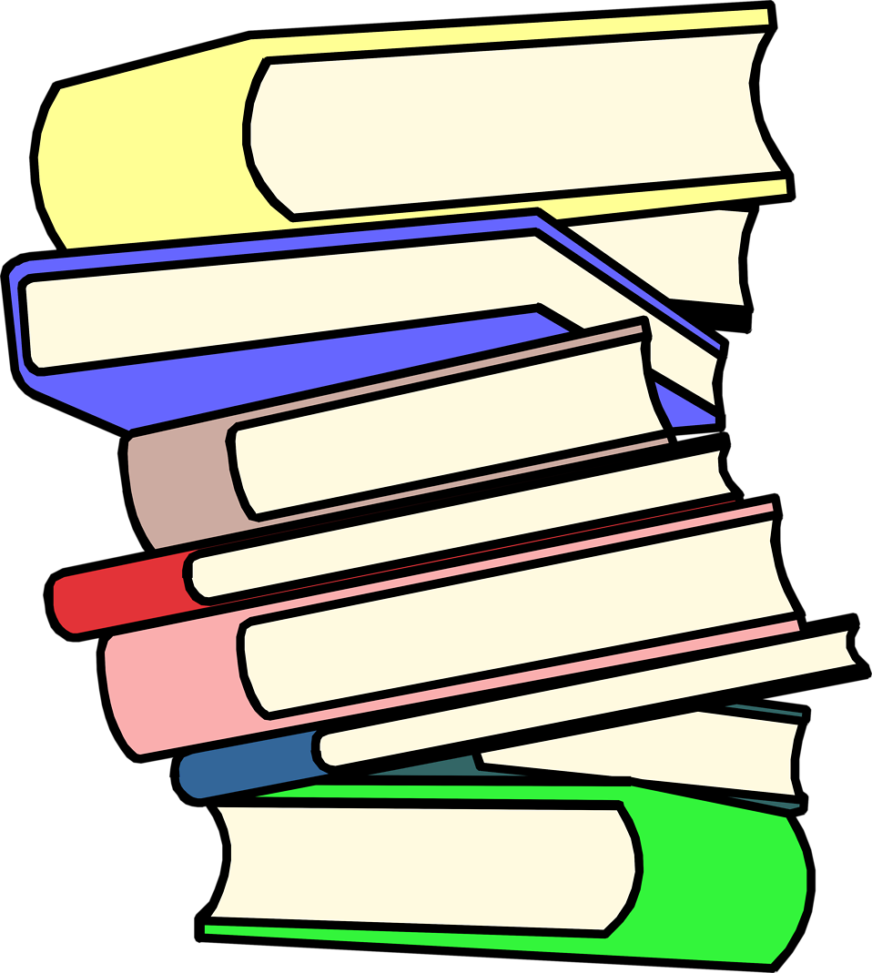 Stack of books clip art the cliparts