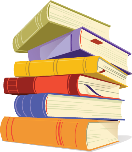 Stack of books clipart bing images by gwendolyn wilkes we heart it