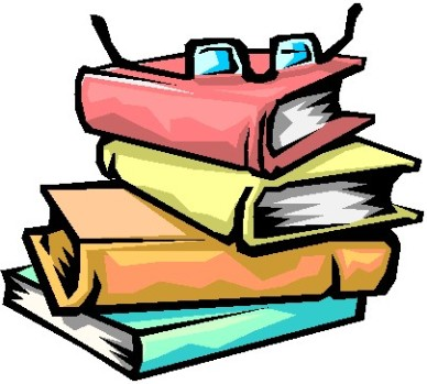 Stack of books clipart black and white free 3