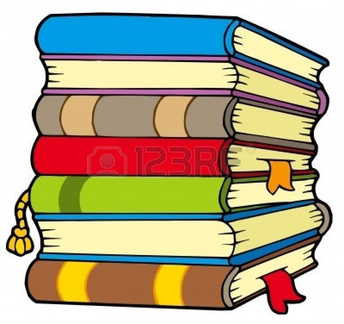 Stack of books pile of books clipart kid