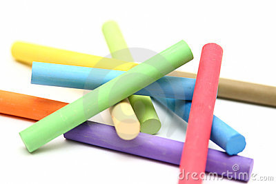 Stack Of Color Chalk Sticks Stock Photo Image 18097680