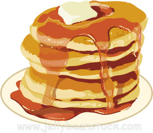 Stack Of Pancakes Clipart #1 .