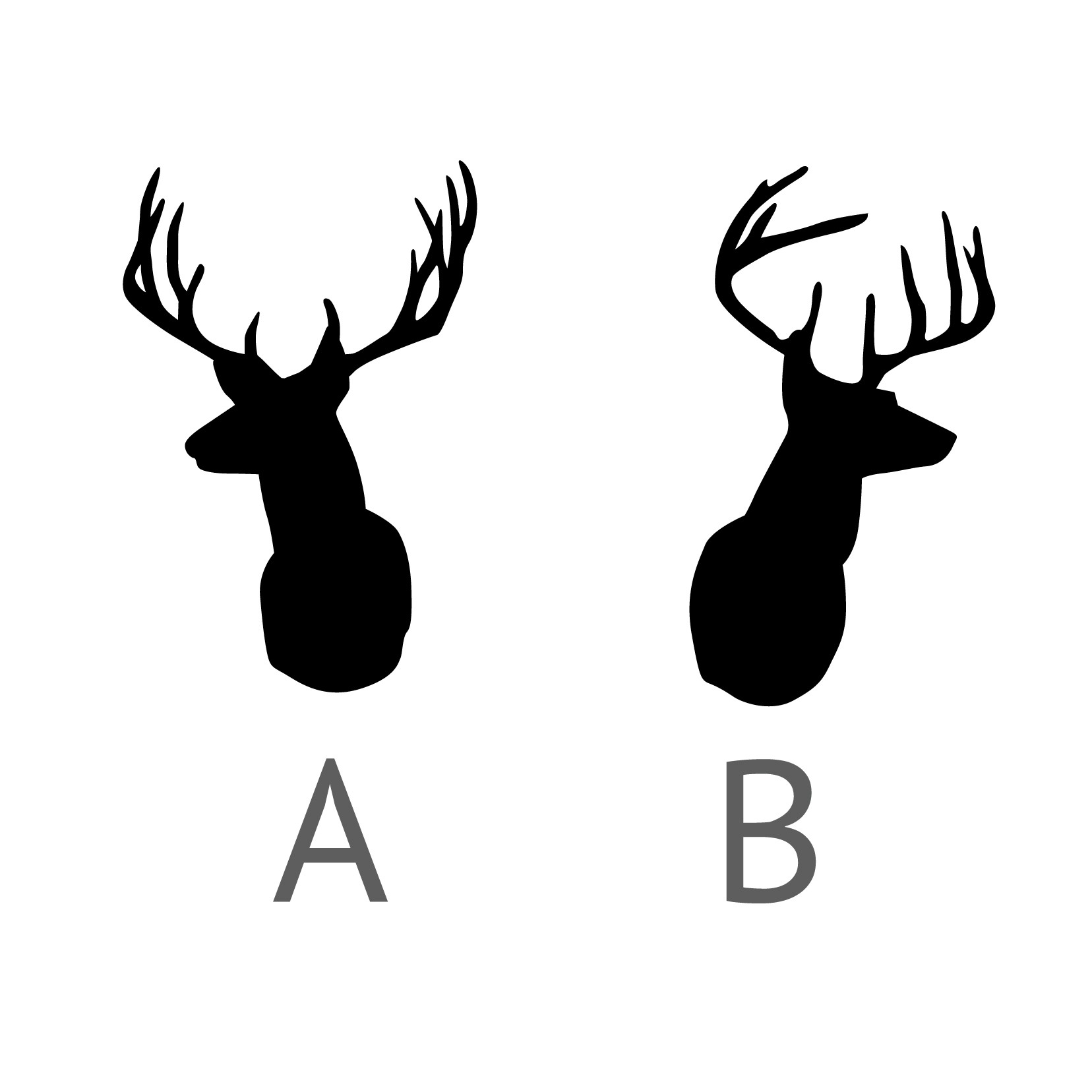 Stag Head Silhouette .
