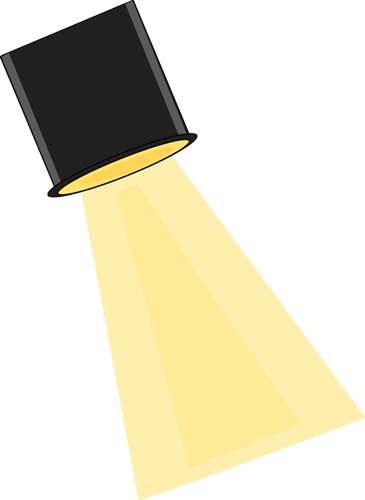 Stage Spotlight Clip Art Image Ceiling Stage Spotlight With A Yellow