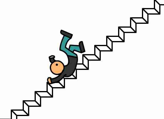 550x400 Fall Down Stairs Clip - Stairs Clipart