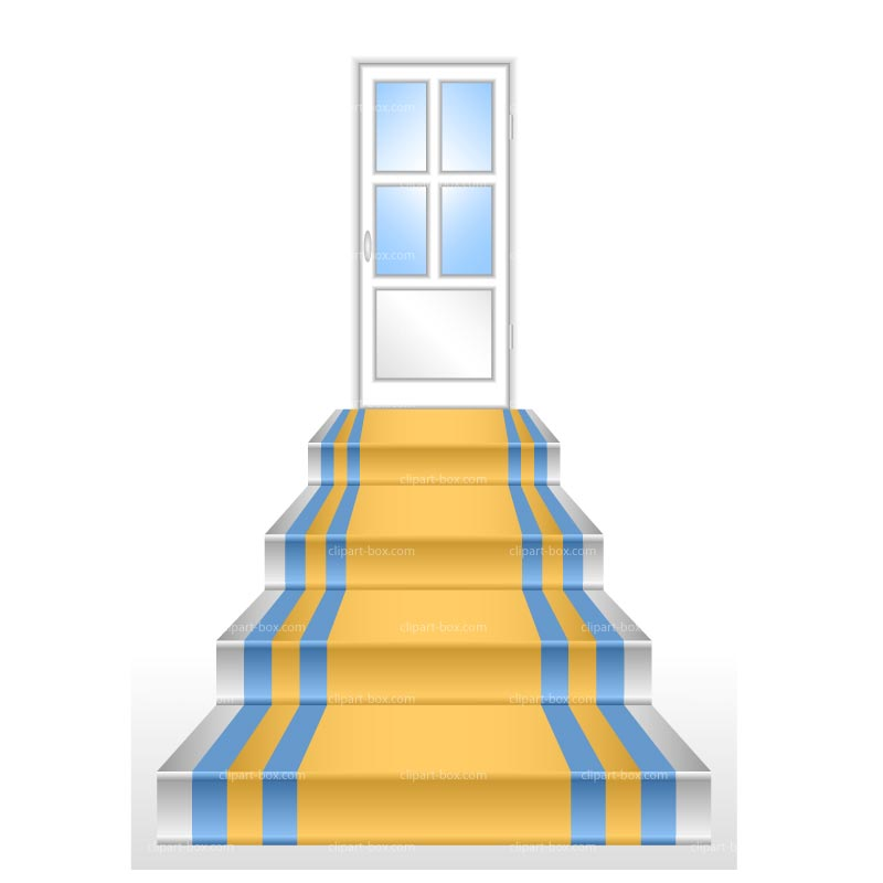 CLIPART DOOR AND STAIRS