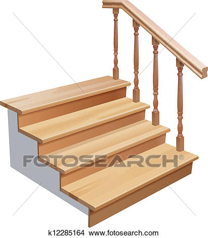 Clipart - Wooden Stairs. Fotosearch - Search Clip Art, Illustration Murals,  Drawings And