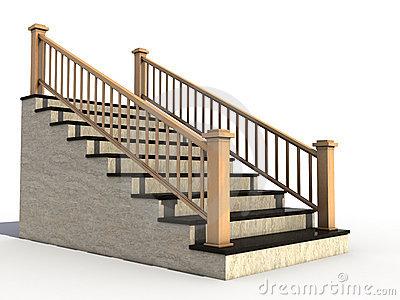 Staircase Handrail Clipart #1