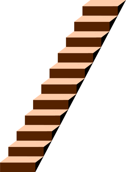 Stairs clip art - vector clip art online, royalty free public domain