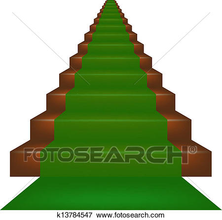 Stairs Clipart green