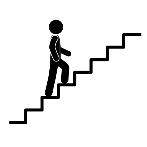 Walking Stairs Clipart #1