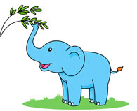 standing baby elephant clipart. Size: 38 Kb
