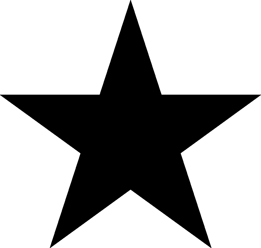 Star black and white image of black star clipart stars and white