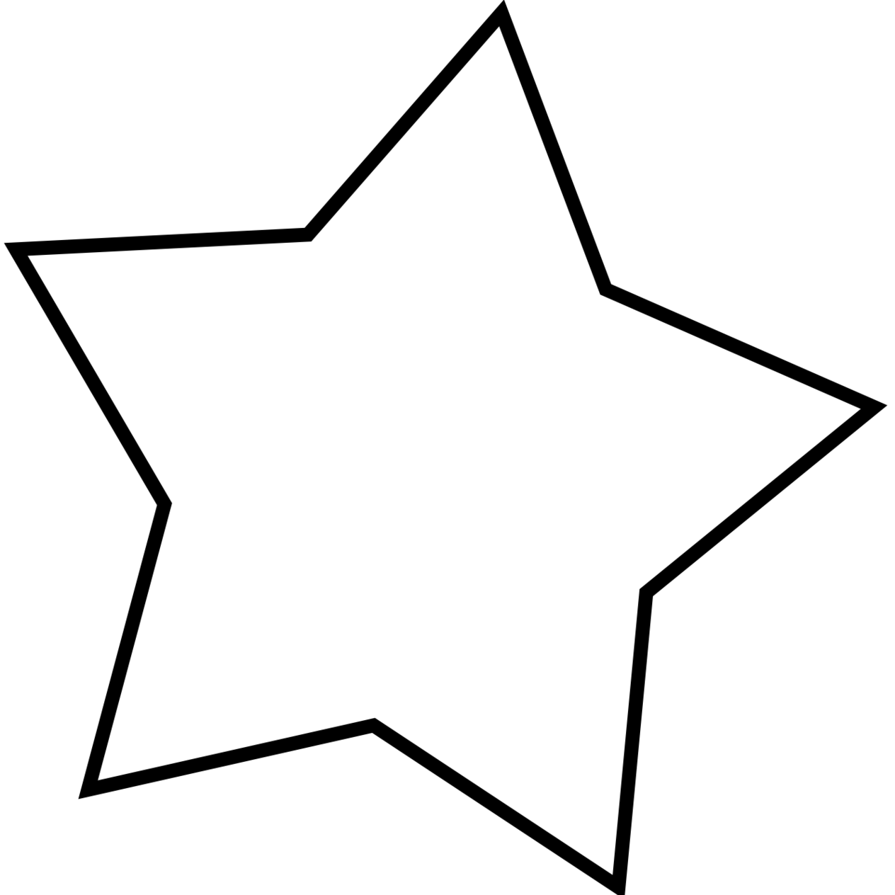 star clipart png black and white clipartall