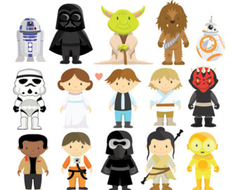 Star Wars - Clipart u0026amp; Vector Set - Instant Download - Personal and Commercial Use - New Characters - BB-8 - Rey -Yoda - Finn - Poe Dameron