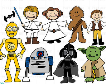 Star Wars-Clipart, Space Wars digitale Clipart, ClipArt Starwars Instant Download D513