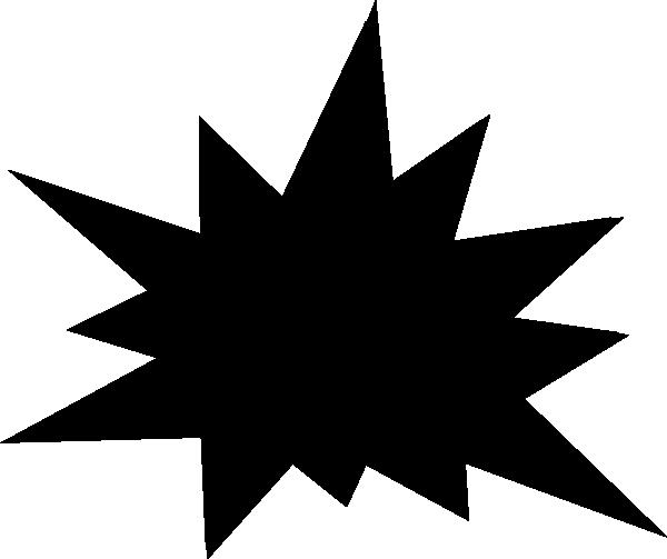 starburst clip art outline