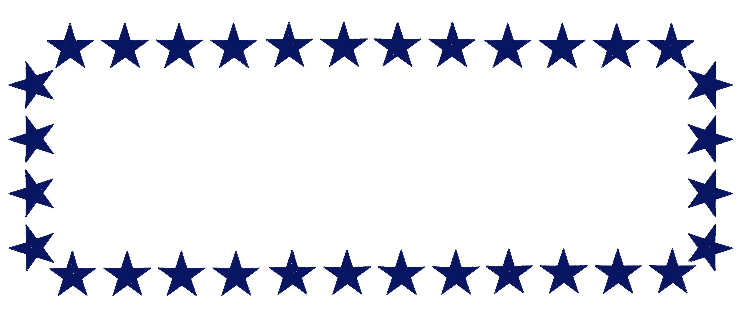Blue Star Clipart Frame - Stars Clipart