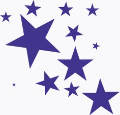 splash of stars - public doma - Stars Clipart