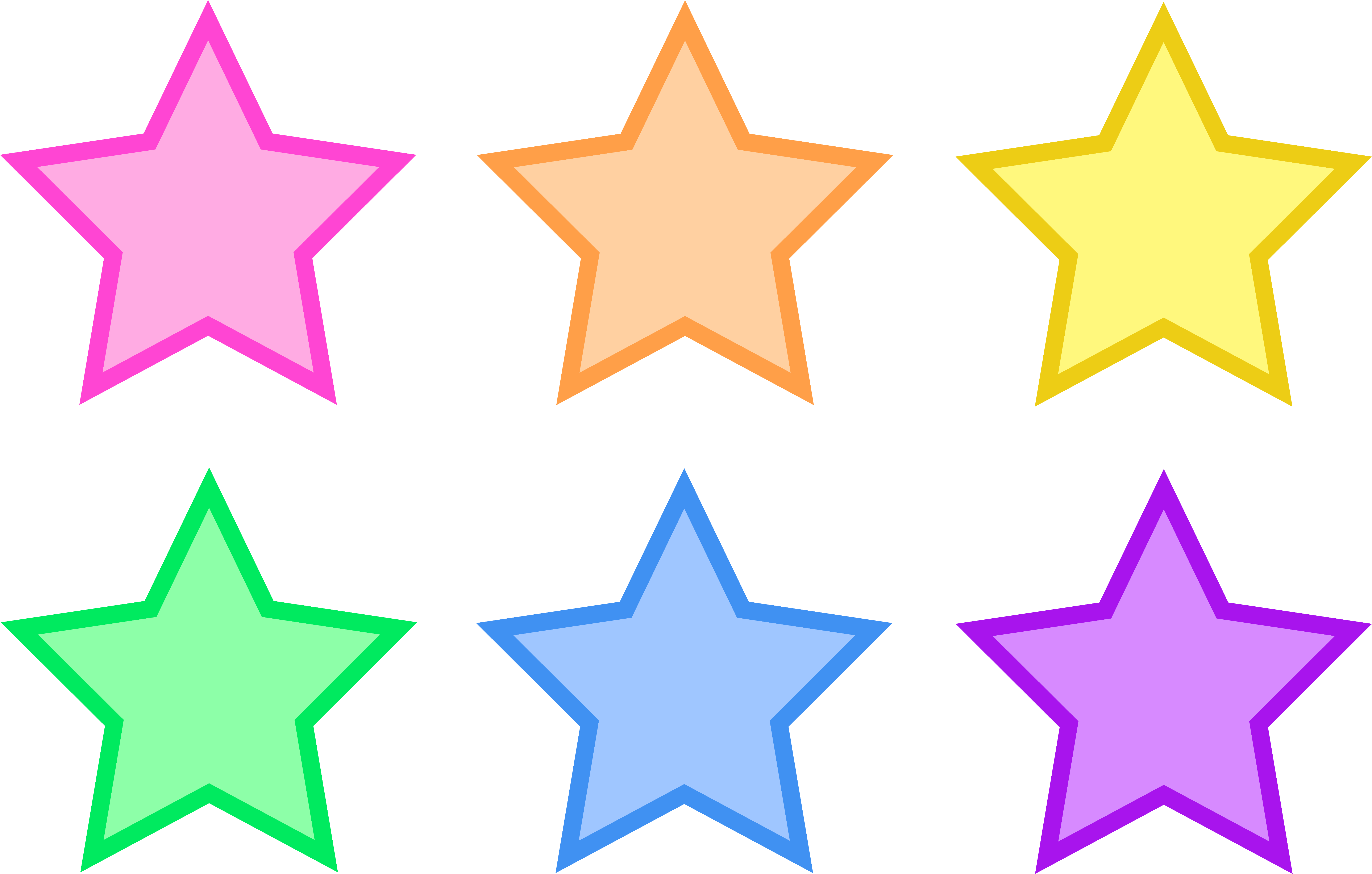 Star clip art outline free clipart images 2