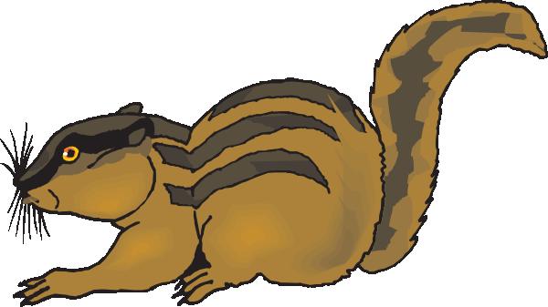 Startled Chipmunk Clip Art