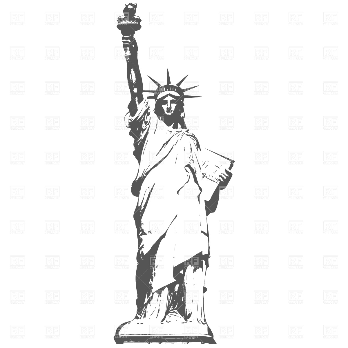 Statue Of Liberty In New York Download Free Vector Clipart Eps