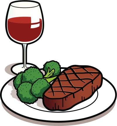 Steak clipart diner food #2