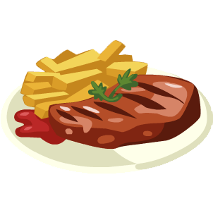 Steak clipart steak dinner #11