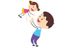 Stick Figure Father Playing With Child Baby Girl Clipart Size: 50 Kb