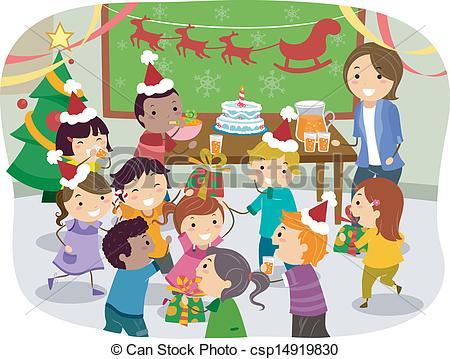 Stickman Kids School Christmas