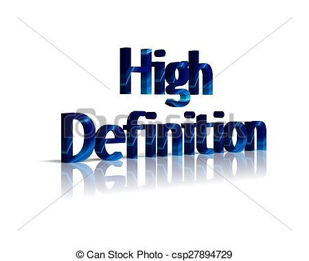 Stock Illustration - high definition 3d word