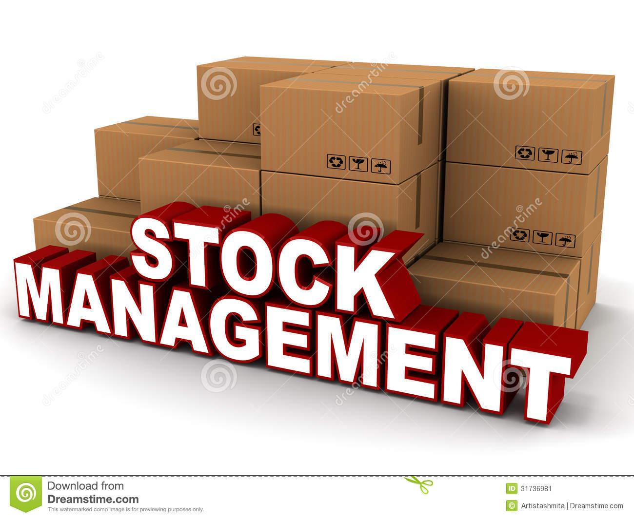 Stock management Stock Image