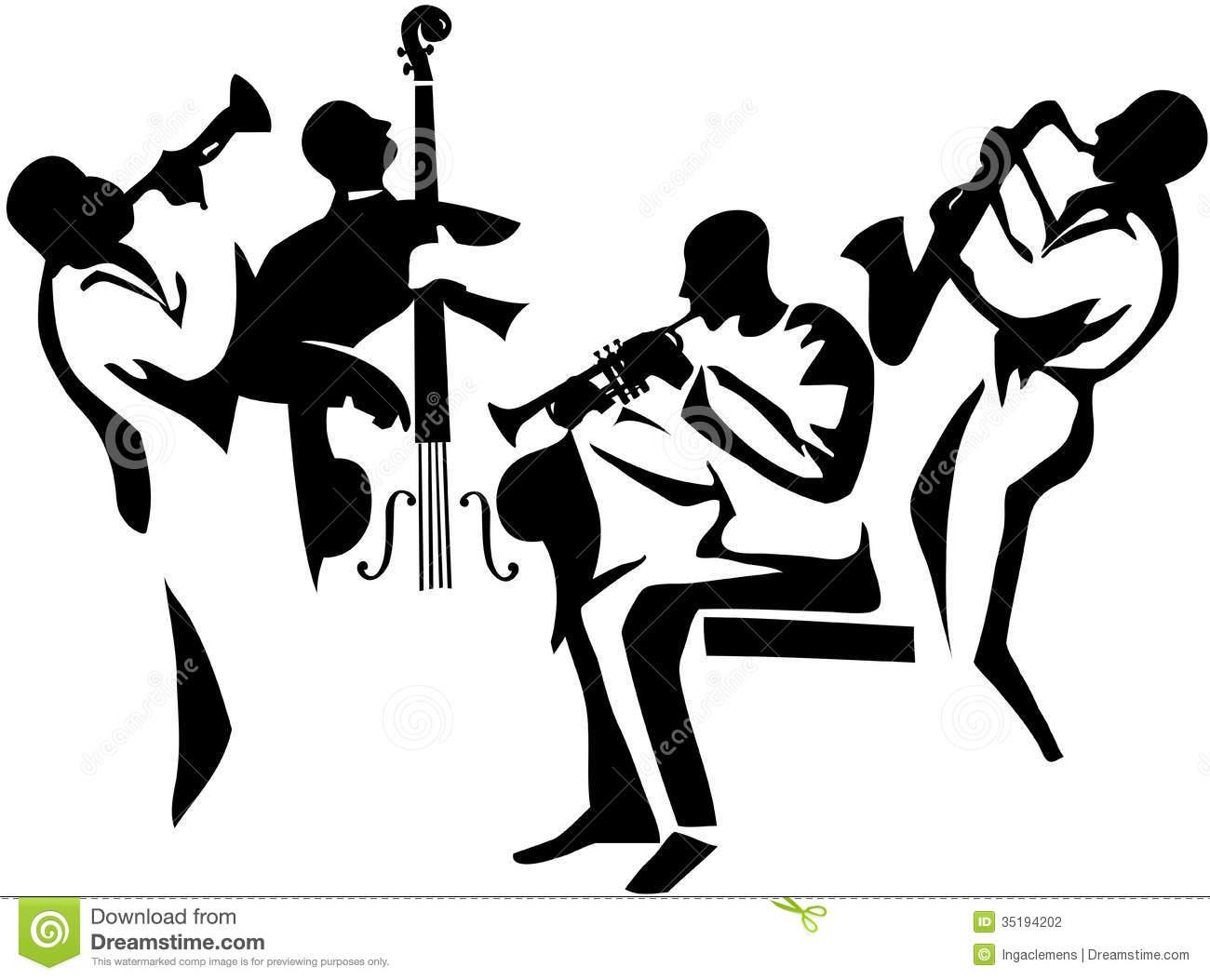 Stock Photography Jazz Quartet Image 35194202