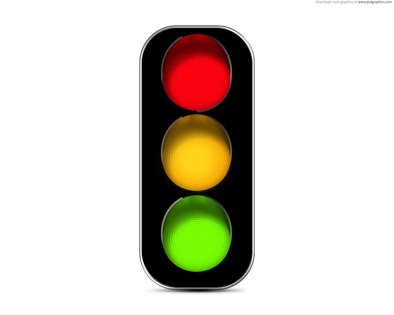 Traffic Lights Icon (PSD) | PSDGraphics