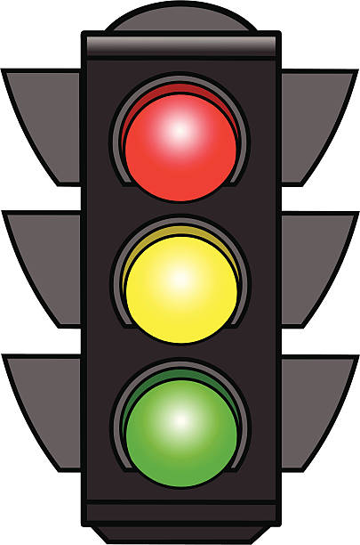 Traffic Lights vector art ill - Stoplight Clipart
