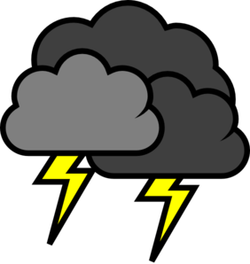 Storm Cloud Clipart #1