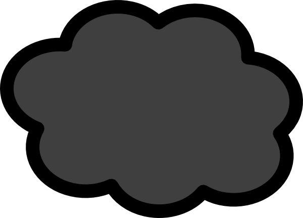 Storm Cloud Clipart 4