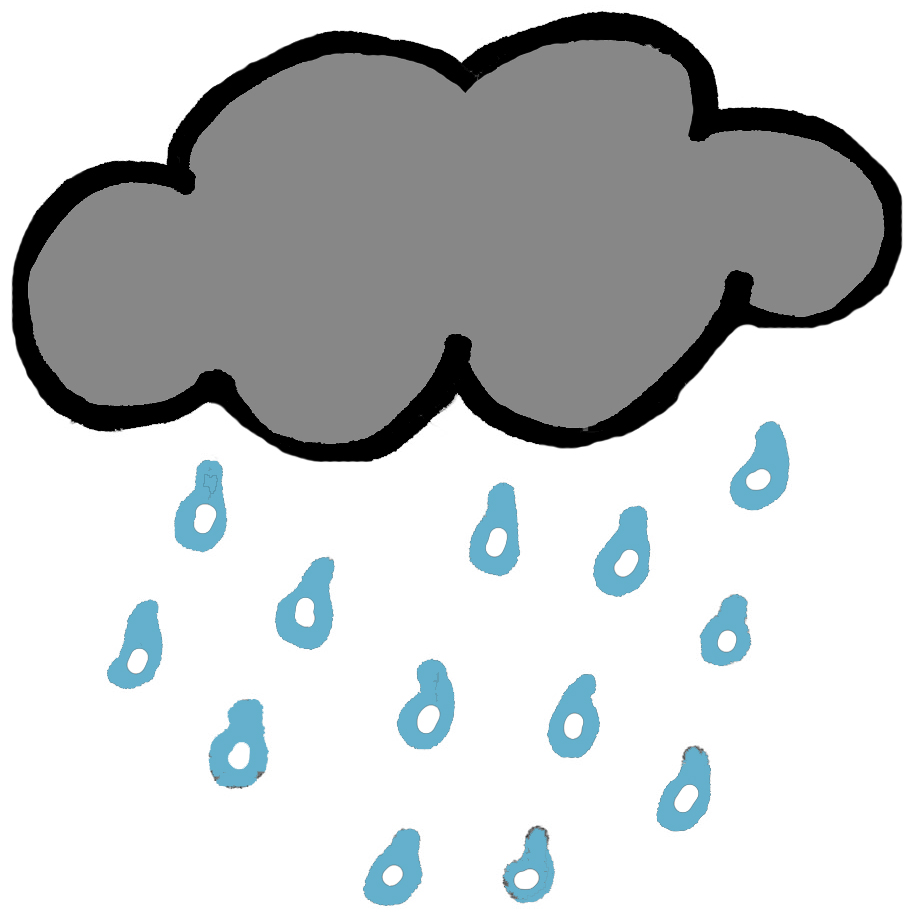 Rain cloud clipart 4
