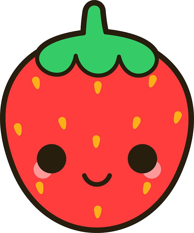 cute strawberry clipart 3