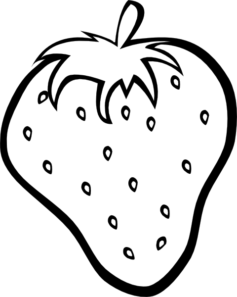 . hdclipartall.com free vector Outline Strawberry clip art