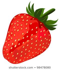Ripe red strawberries, file EPS.8 illustration.